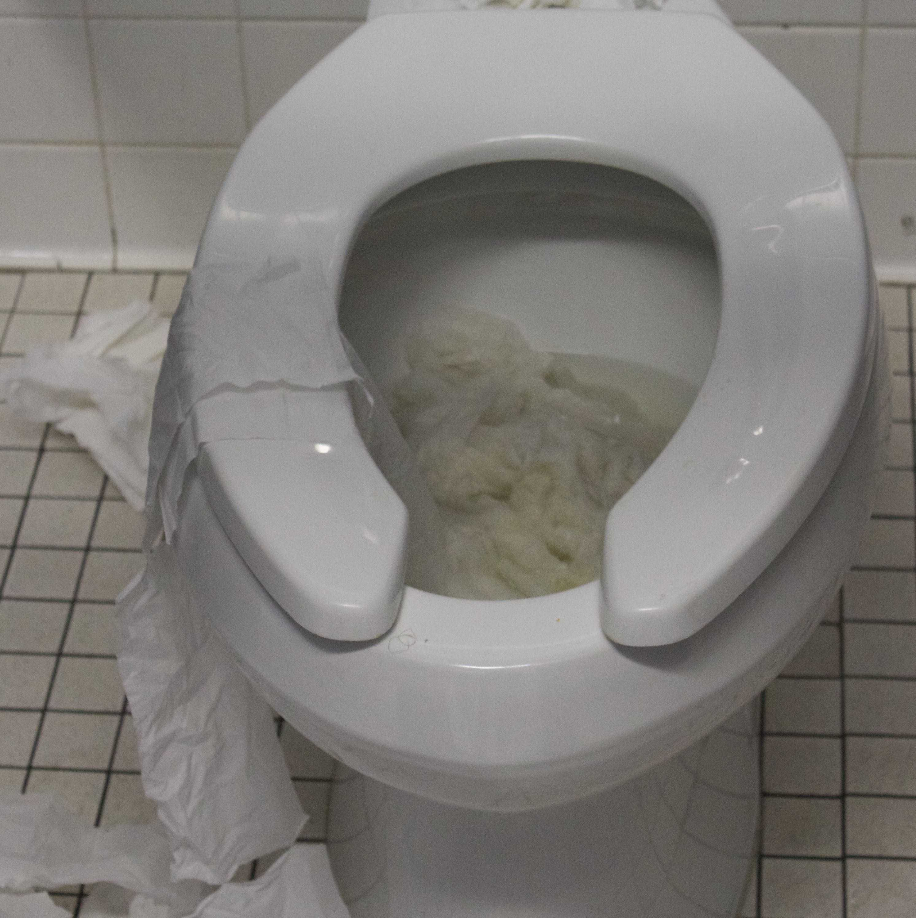 The boys restroom at Venice High School.