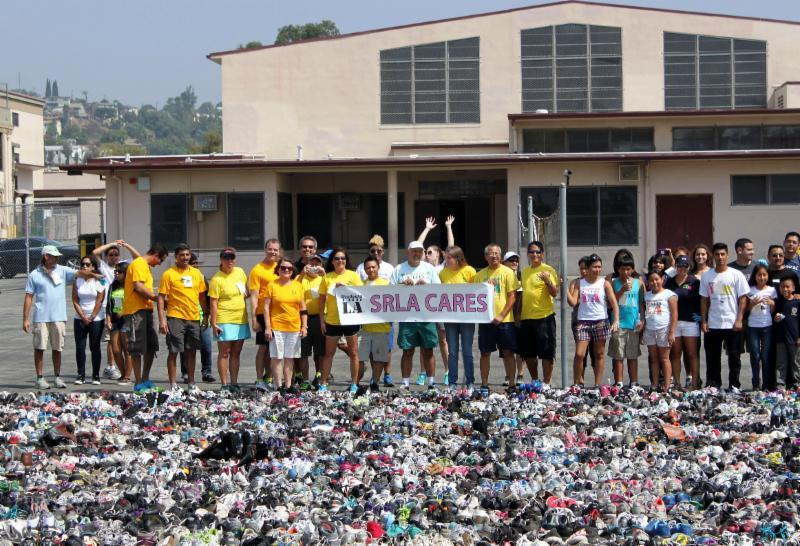 Students Run Los Angeles collected shoes, breaking a world record.