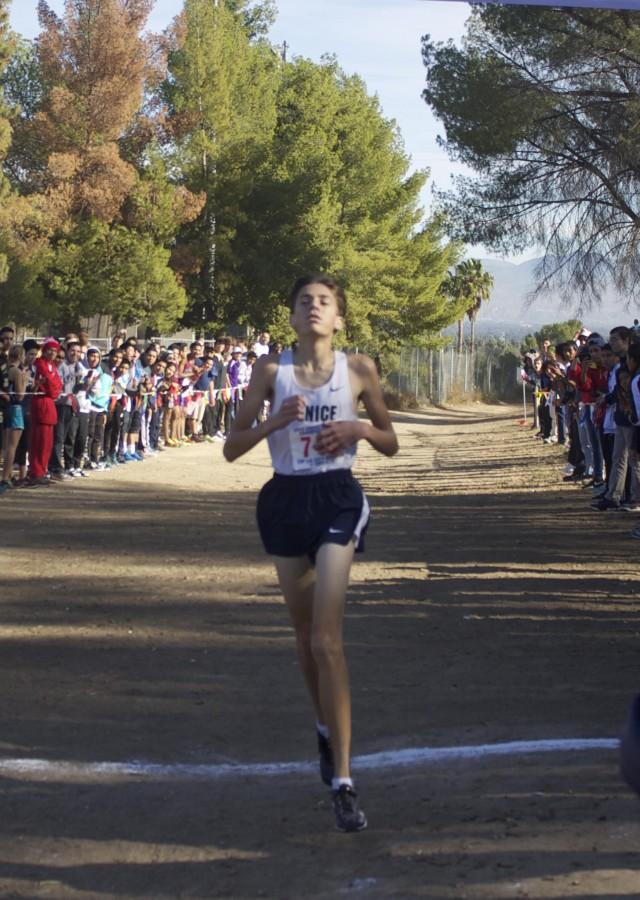 Paul Luevano running at Pierce College for the CIF finals