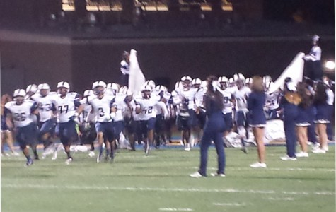 Gondos take the field prior to their playoff game against Crenshaw.