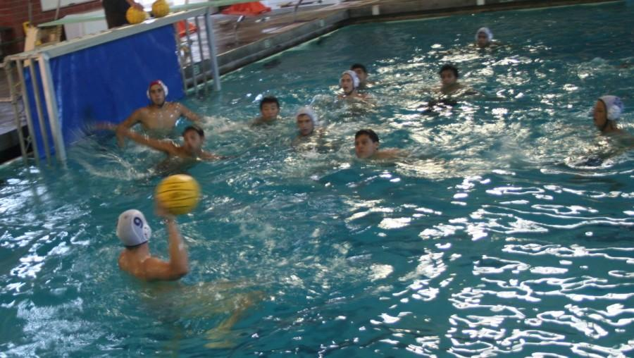 The water polo team at Venice High practices different plays during the season.