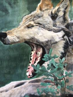 Krysta Gutierrez painted last year's favorite student artwork.