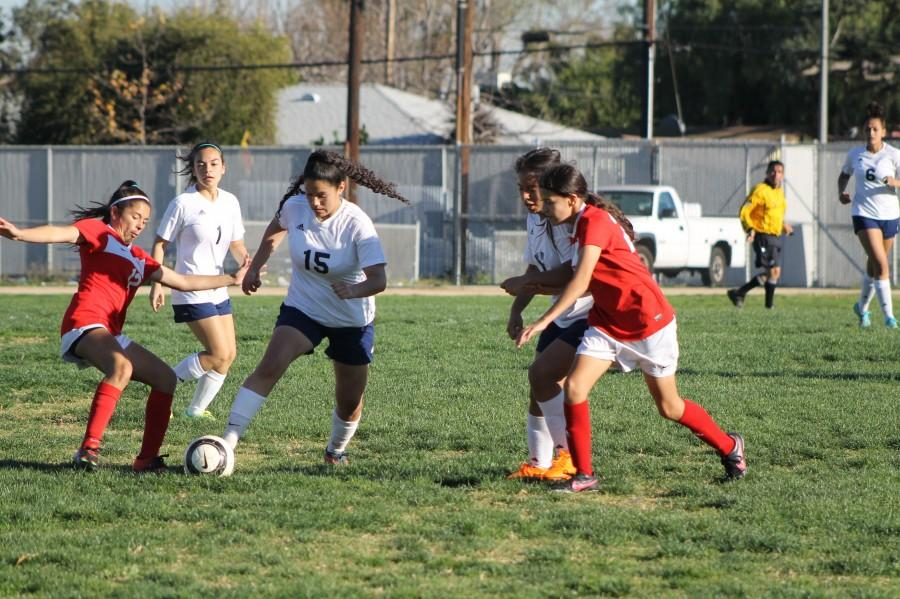 Girls soccer team falls behind