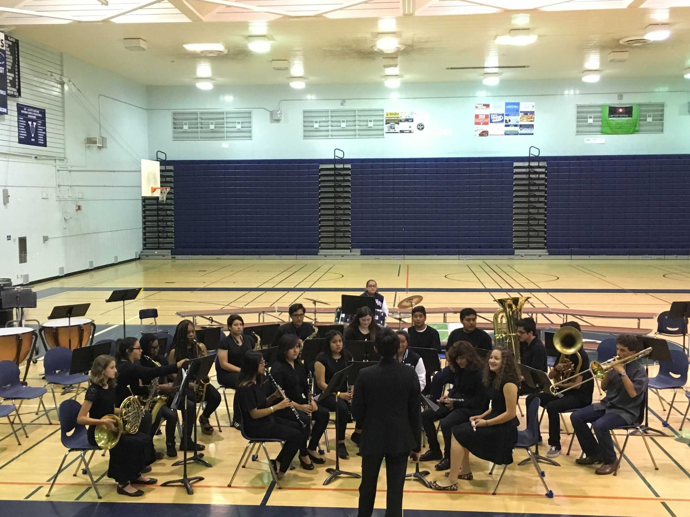 The band playing at the End of the Year Music Department Concert
