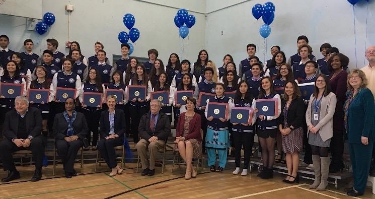 Students Receive Jacket of Excellence