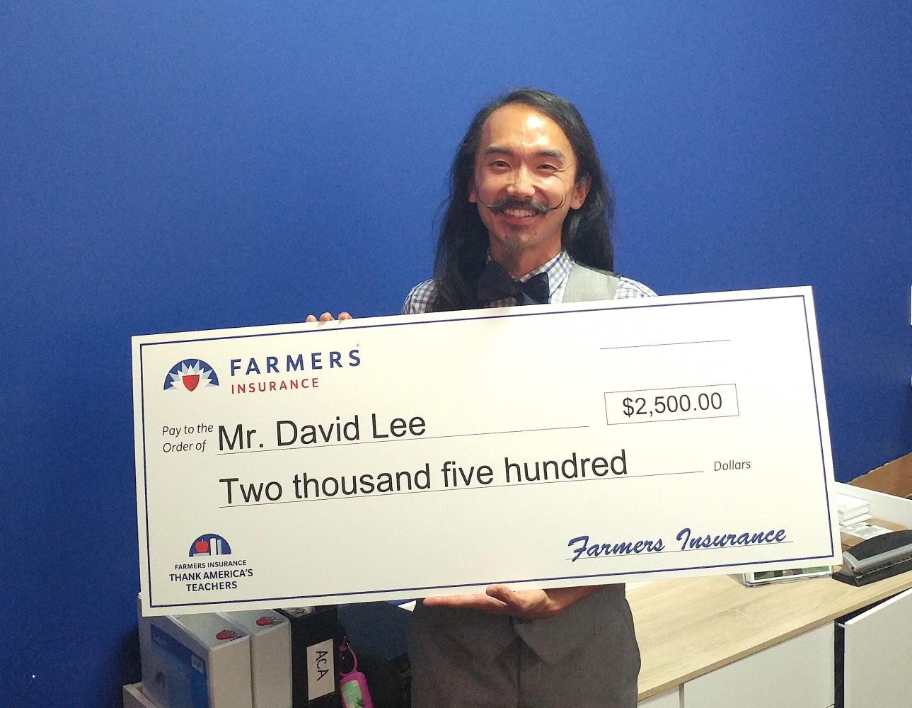 Thank America's Teachers Grant, won by Mr David Lee, the Mariachi Band Director