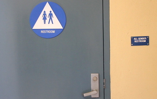 The gender neutral restroom in the main building.