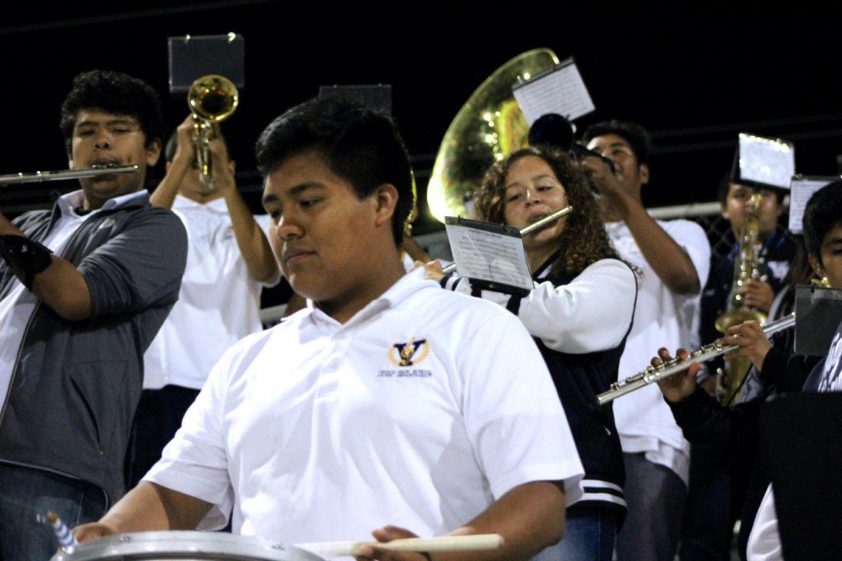 Band plays at away game