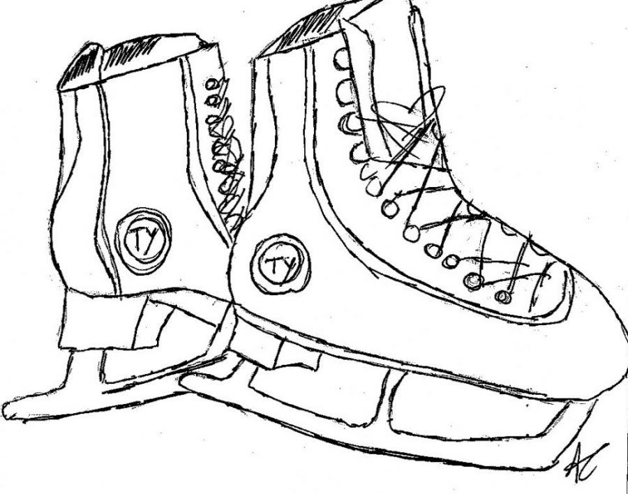 A pair of ice skates.