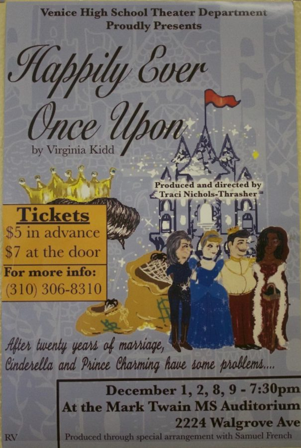 Happily Ever Once Upon poster located in the Main Building.
