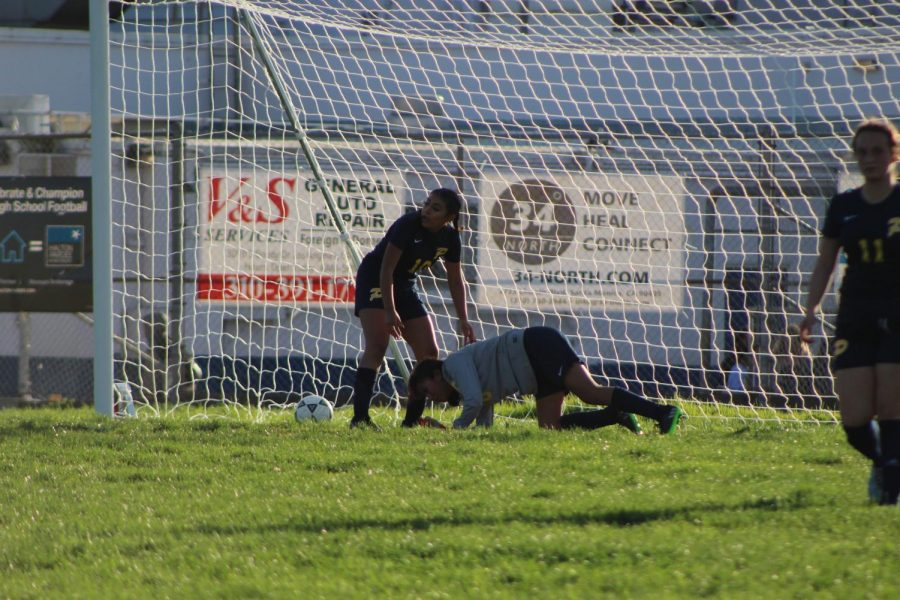 Animo Venice player knocked down after getting hit by the ball.