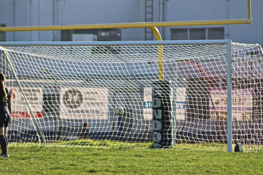 Victoria Corpuz (Numer 7) scores goal against Animo Venice