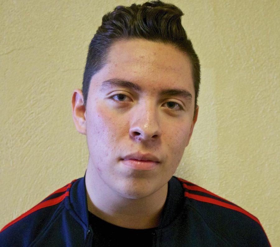 Sophomore Isaac Gomez.