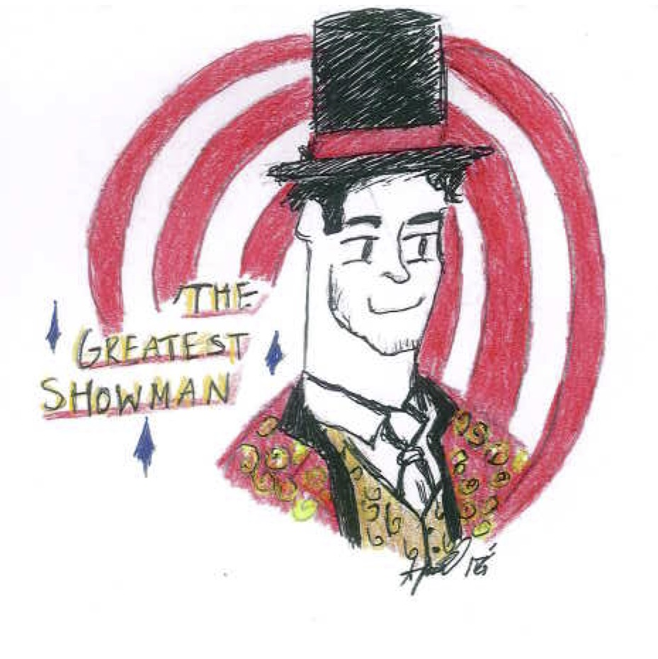 Drawing of the Greatest Showman