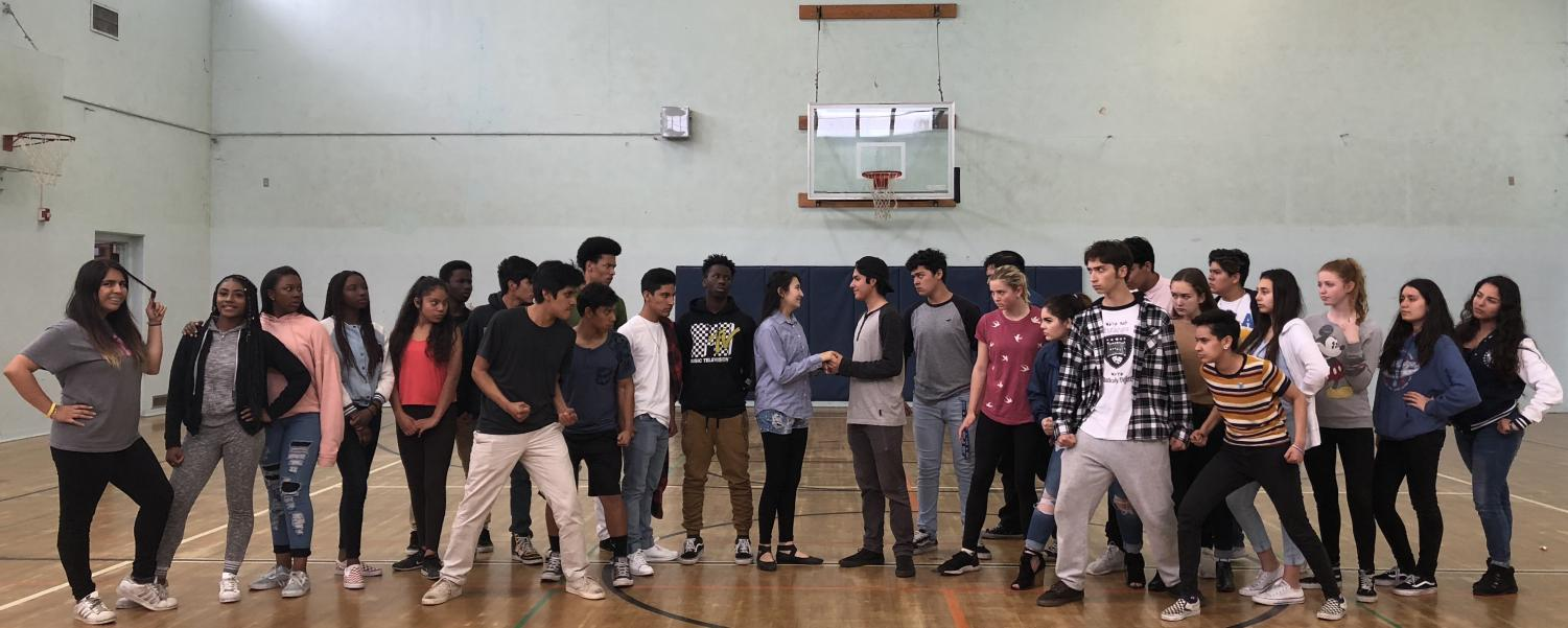 West Side Story spring musical rehearsal