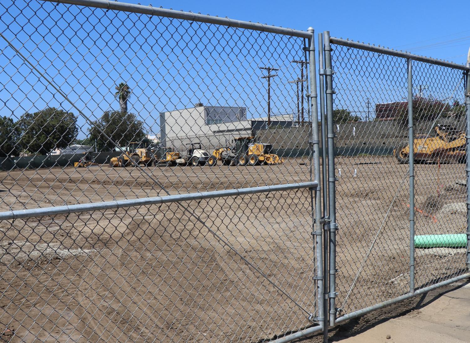 The former field will soon be converted into a brand new teacher parking lot.