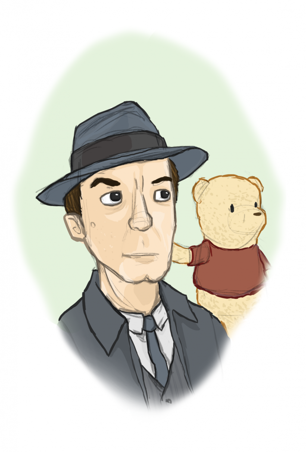 A business man and his bear.