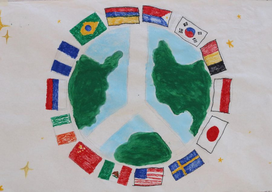 One of the posters for Peace Day.
