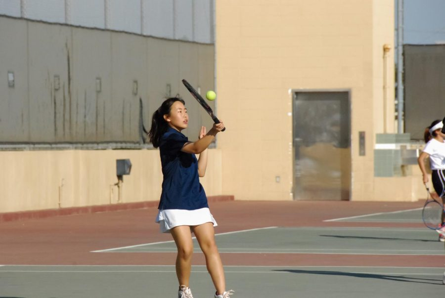 Sayla Miyoshi takes a swing.