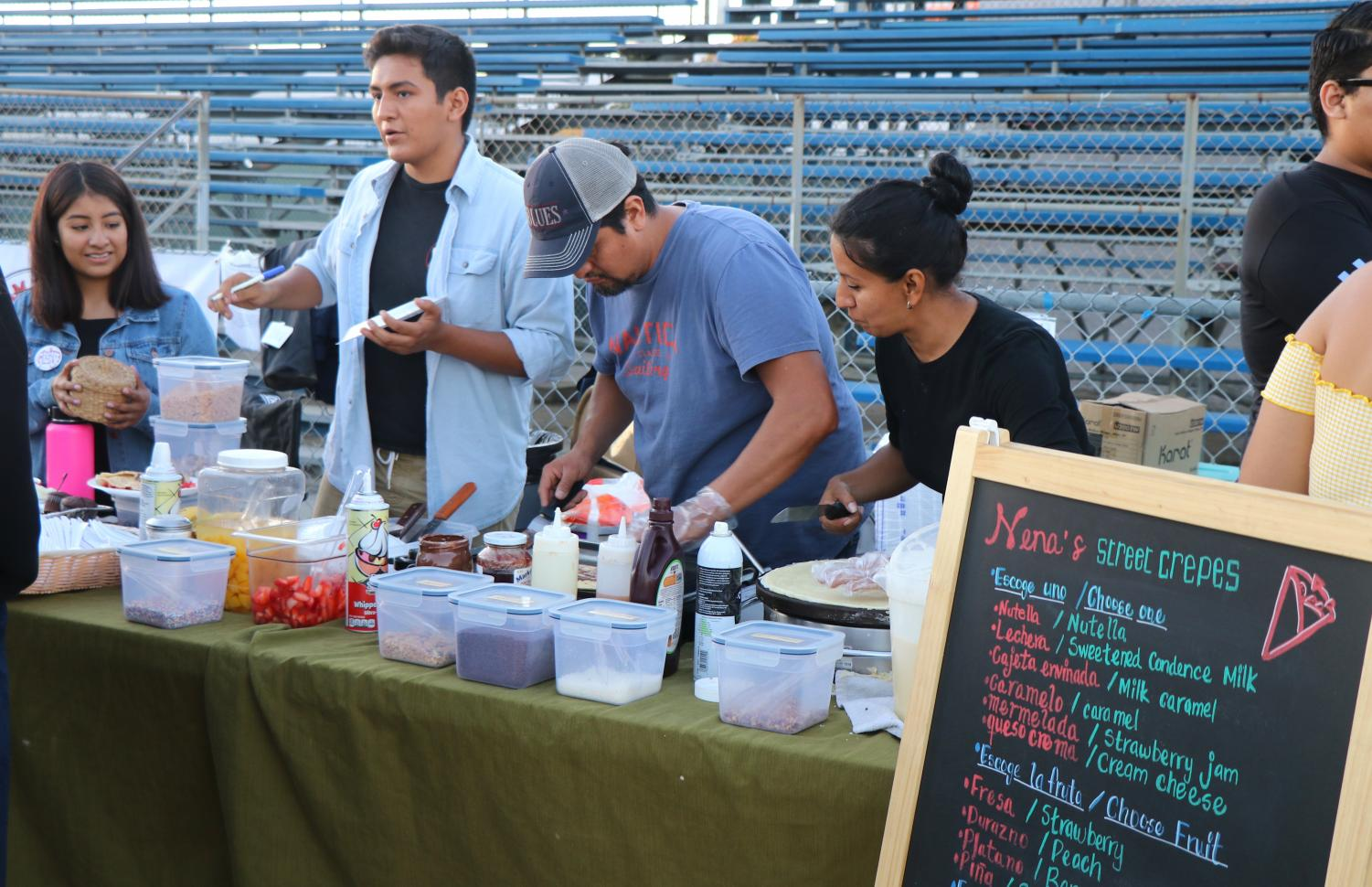 Oakgrove selling crepes at Grease Night.