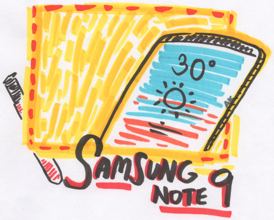 Samsung's newest Note 9 smartphone.