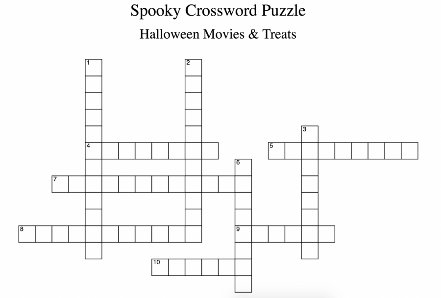 Spooky Crossword Puzzle: Halloween Movies & Treats
