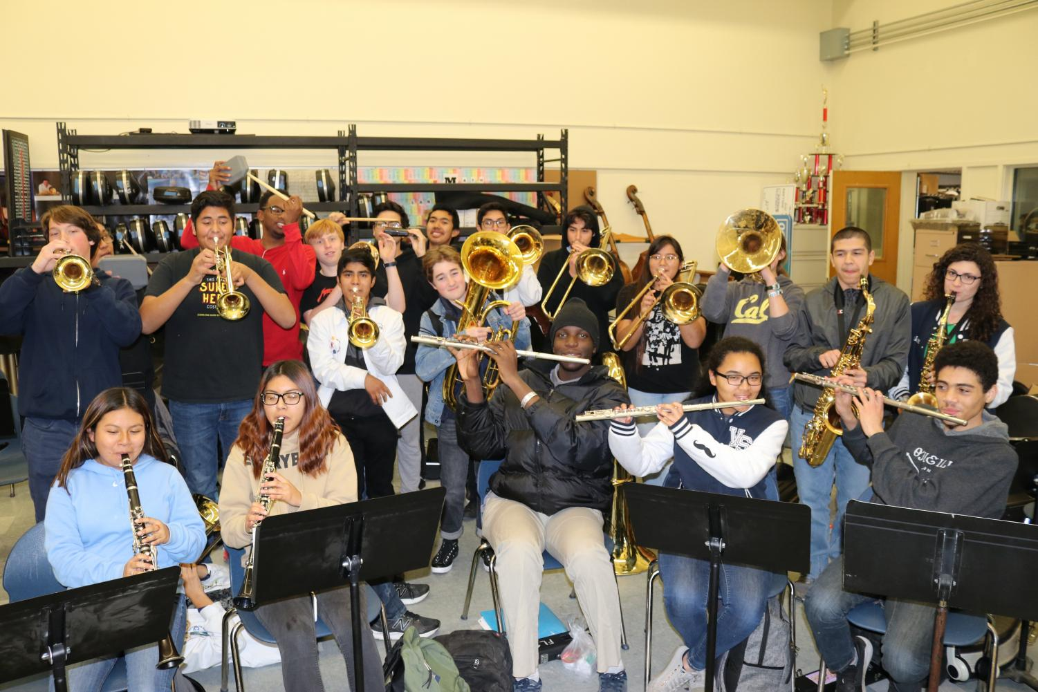 The band rehearses for their Valentine's Day fundraiser.