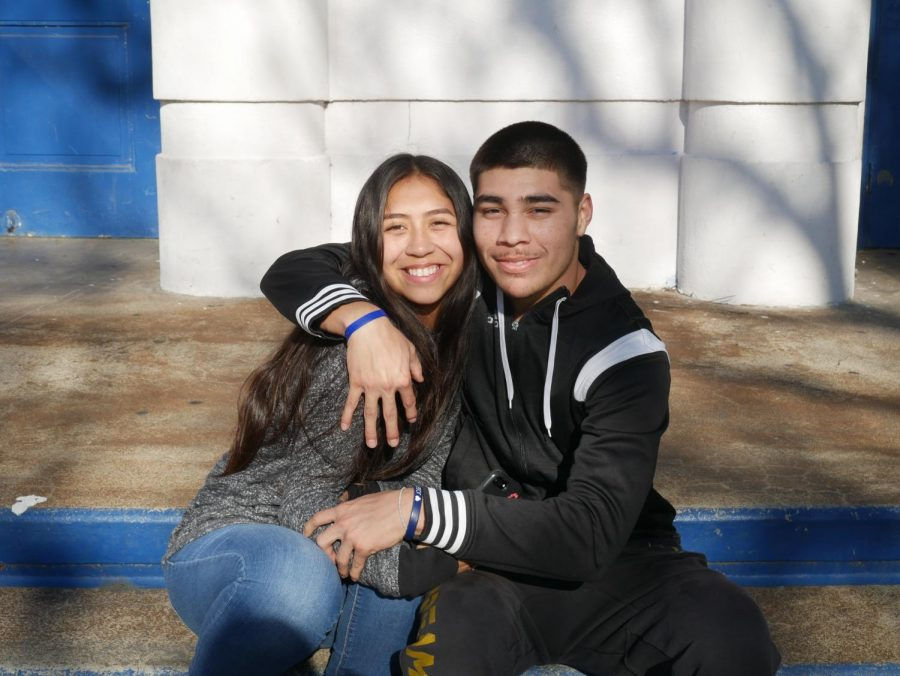 Anias Camarillo and his girlfriend Mariana Salinas.