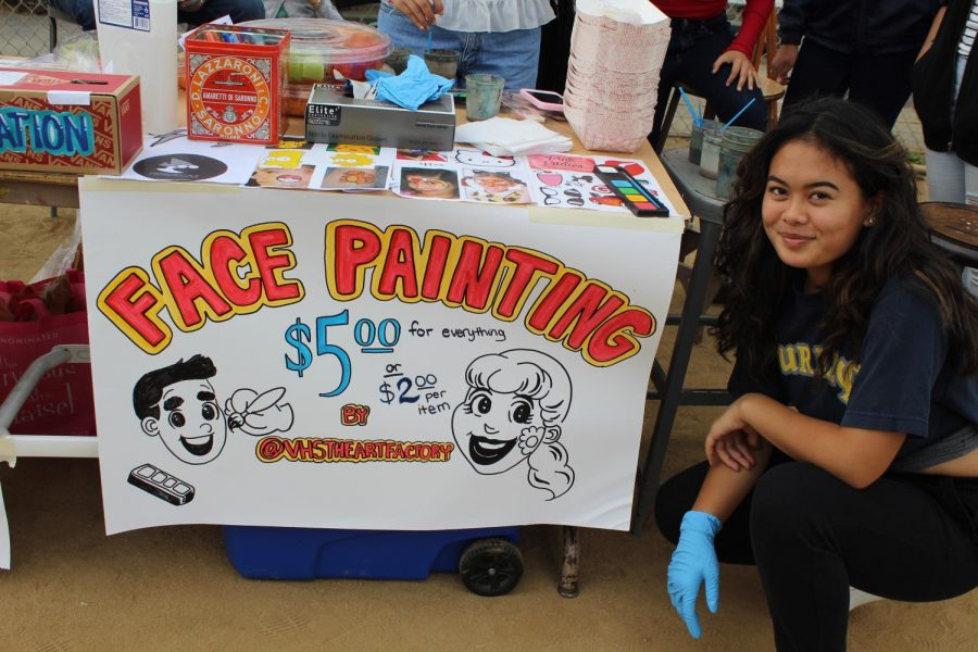 Grease Night, Janna Rae Face Painting booth.