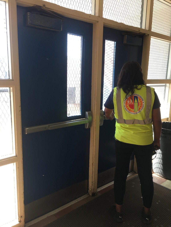 Ms. Jones closes the Cunningham Hall