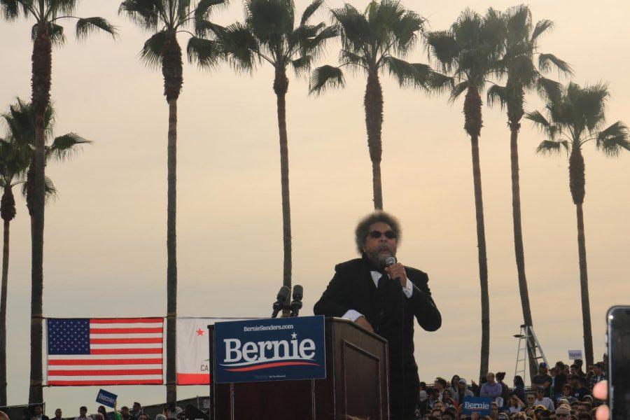 Cornell West at Venice Beach Bernie rally.