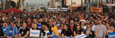 Thousands of people attended a Bernie Sanders rally in Venice Beach last December.