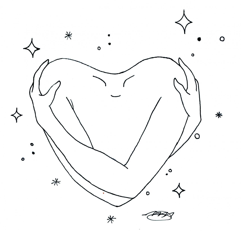 Giving yourself a hug is self love.