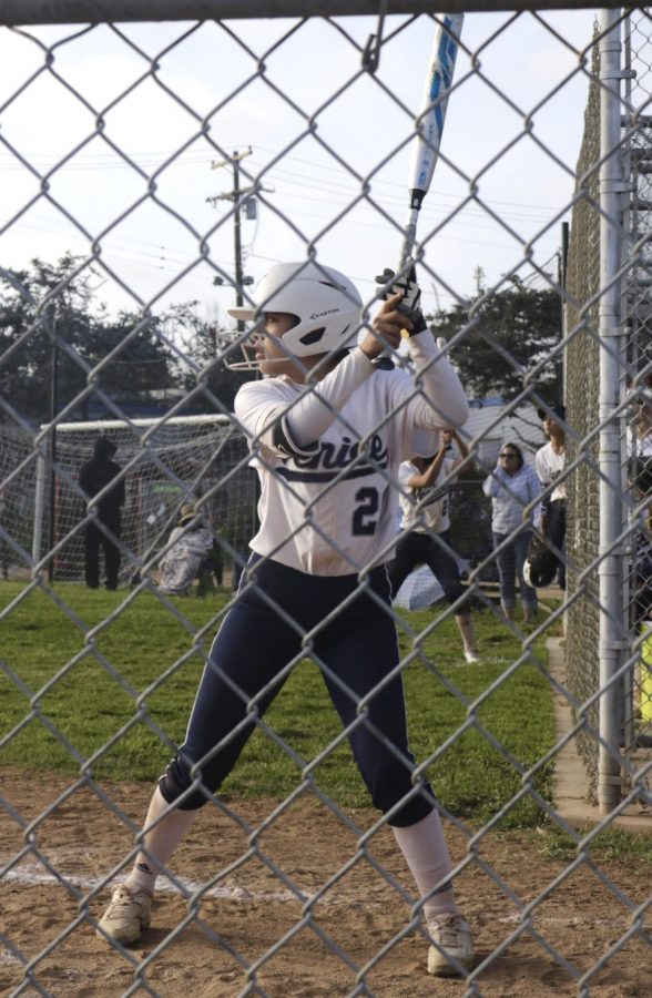 Ariana Soto taking the field against Hamilton High