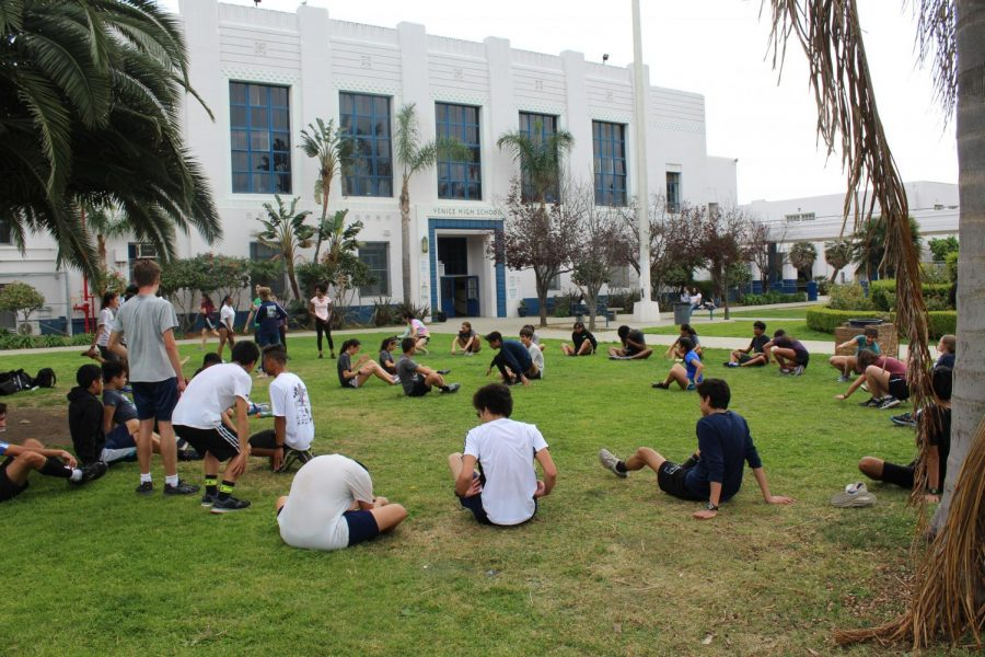 Track practice after school