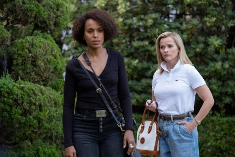 "Kerry Washington and Reese Witherspoon as Mia Warren and Elena Richardson in the Hulu limited series ""Little Fires Everywhere."""