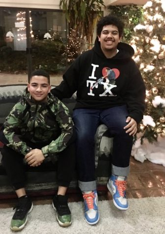 Mateo Holguin and his brother.