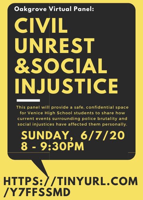Oakgrove+Hosts+First+Virtual+Panel+%27Civil+Unrest+%26+Social+Injustice%27