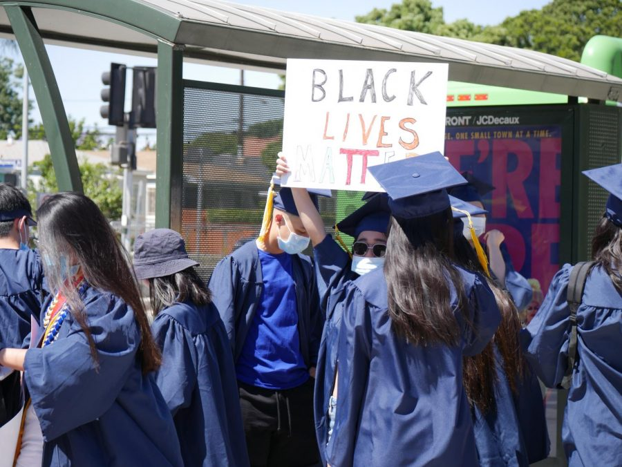 Venice students lead a peaceful protest in front of the school's campus on Tuesday, June 9.