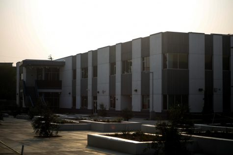 The new science building on the west side of campus.