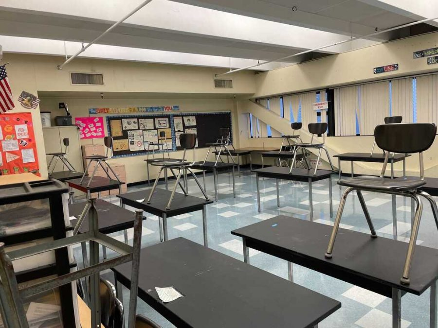 When LAUSD students return to in-person learning all classroom will be equipped with plexiglass and strict social distancing guidelines will be followed.