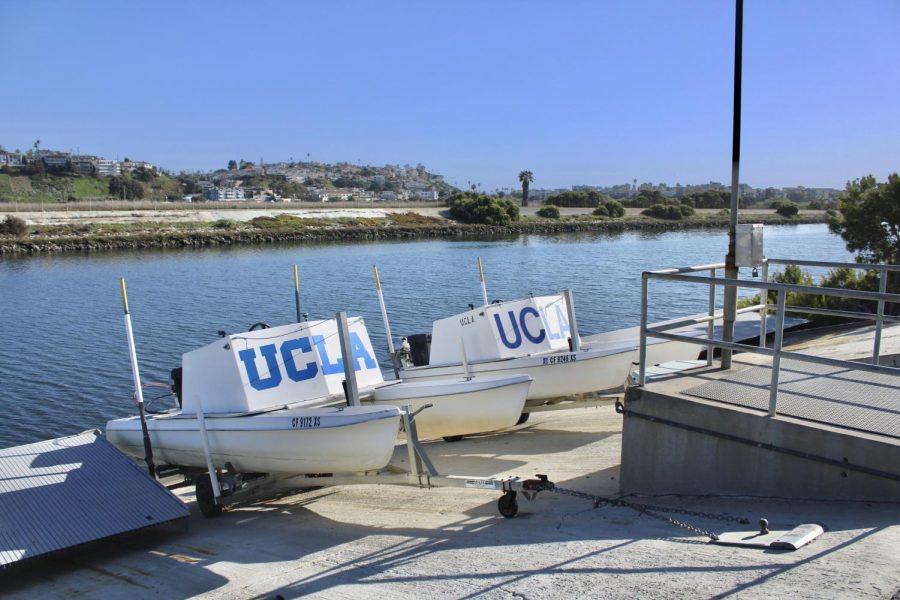 Current UCLA' boat ramp that will be reconstructed by Venice High Alum Gabriel Fernandez.